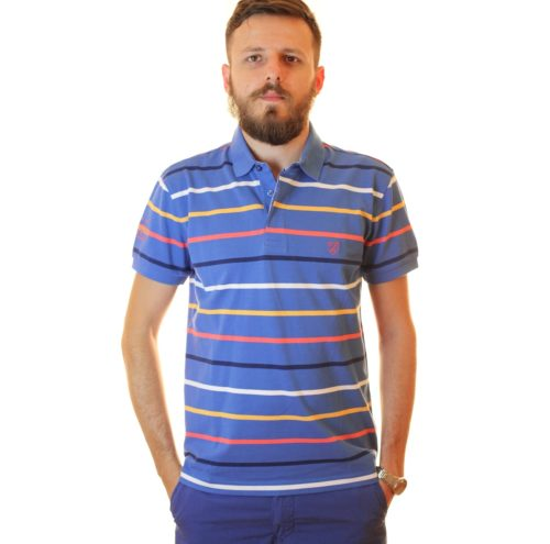 THE BOSTONIANS Tricou Polo Bleu 2