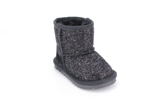 Cizme Copii Tip UGG Black sparkle 1