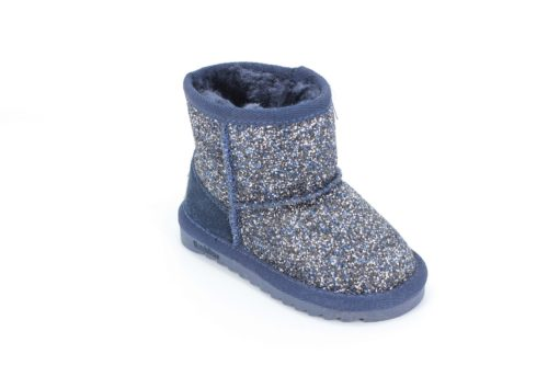 Cizme Copii Tip UGG Blue Sparkle