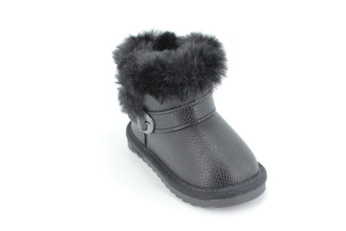 Cizme Copii Tip UGG Black Fur