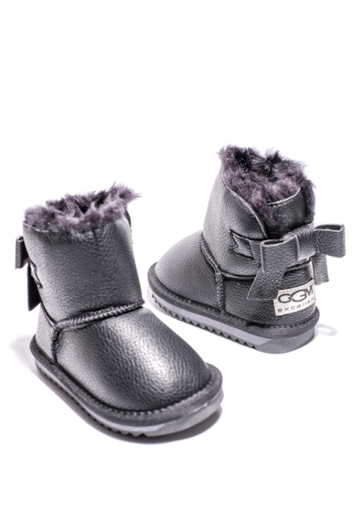 Cizme Copii Tip UGG Dark Black Fundita